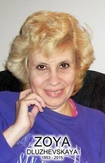 Zoya Dluzhevskaya obituary photo