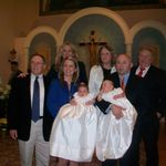 Proud Papa at Grace & Hadley's baptism. Larry was an extremely kind & caring man.