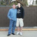 Brian with his nephew, Liam, in Phoenix, March 08.