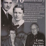 70th Wedding Anniversary Annoucement