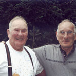 Mayard and brother Ed, July 2000