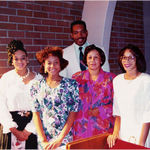 Rev. Dr. Rosetta Lillard's son, Rev. Dr. Calvin A. Lillard with wife, Helen, and daughters Sharon, Enjoli, and Tracie
