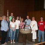 Pastor Rob and U of Iowa Lutheran Campus Ministry students in May 2009. Pastor Rob led a goodbye service together before we each moved on to new adventures. Thank you for sharing the grace, peace, and love of God with us, Pastor Rob.