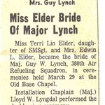 Clipping of Terri's wedding