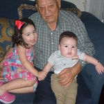 Grandpa with Vivian & Ernest