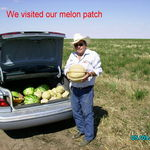 Vern going home with Laprath melons.