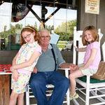 Cracker Barrel- Papa with Madeline & Amelia