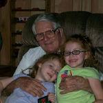 Papa with Madeline & Amelia