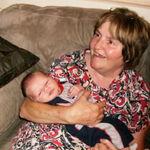 Patricia Dean holding her grandson Ashton Michael Dean born August 7, 2010