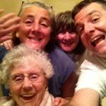 Claire with Karen, Barbara and grandson Jason