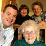 Jason, Karen, Barbara all share a family selfie with Claire.