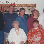 Grandpa Sonny, Danny, Mom, Sheila, Wolfie, Great Grandma B, Grandma Dee