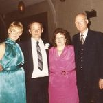 Paul, Janet, Joanna, and Ted at a Prom of some sort.  They did have fun although you wouldn't know from the pic!