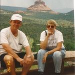 Paul and Joanna at Bell Rock in Sedona.