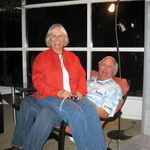 sharing an evening with Woody and Marion.  Woody prepared a fabulous meal for us