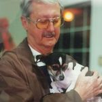 John with Annie.  He loved animals!