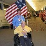 Joe and Joanne during the Honor Flight