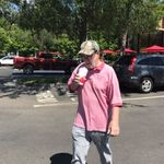 5/25/17 -Daddy having his favorite milk shake from Chick-fil-a