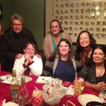 Dinner at Gloria's house with her North Side ELL sisters.