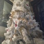 Christmas 2017 A white flocked tree in Memory of you Dad.